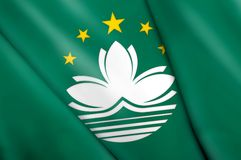Flag of Macau Royalty Free Stock Photography