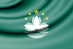 Flag of Macau. Stock Photo