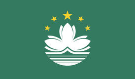 Flag of macau  icon illustration Stock Image