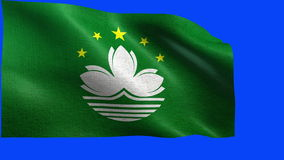 Flag of Macau / Macao - LOOP Royalty Free Stock Photos