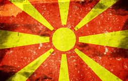 Flag of Macedonia Stock Image