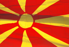 Flag of macedonia. Pic of flag of macedonia Stock Illustration