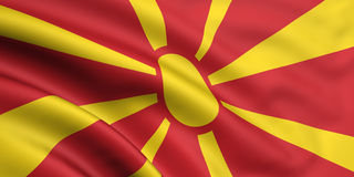 Flag Of Macedonia. 3d rendered flag of macedonia Royalty Free Stock Images
