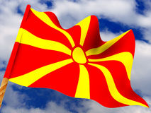 Flag. Macedonia Stock Images