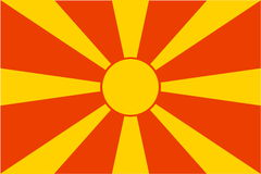 Flag of Macedonia Royalty Free Stock Photography