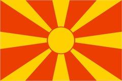 Flag of Macedonia. National country symbol illustration Royalty Free Stock Photography