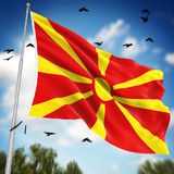 Flag of Macedonia. This is a computer generated and 3d rendered image Royalty Free Stock Photography