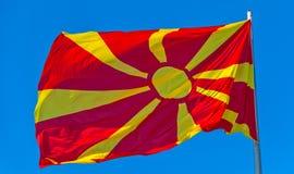 Flag of Macedonia Stock Photo