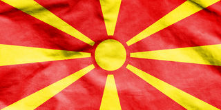 Flag of Macedonia. 3d Rendered Flag of Macedonia Royalty Free Stock Photography