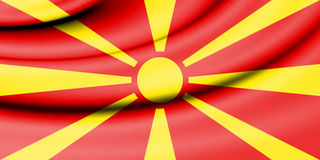 Flag of Macedonia. 3d Rendered Flag of Macedonia Stock Images