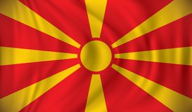 Flag of Macedonia. Vector illustration Stock Images