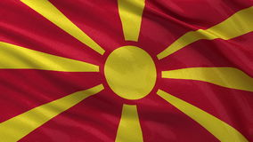 Flag of Macedonia seamless loop Stock Image