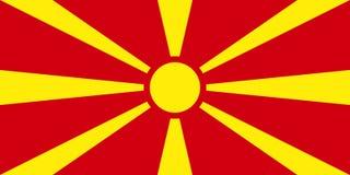 Flag of Macedonia. Vector illustration. World flag Royalty Free Stock Photography