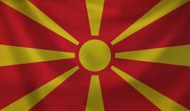 Flag of Macedonia. Vintage background with flag of Macedonia. Grunge style Stock Photos