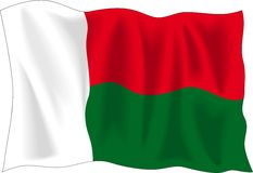 Flag of Madagascar Royalty Free Stock Photos