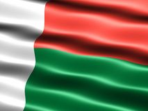 Flag of Madagascar Stock Photo
