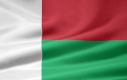 Flag of Madagascar. Very large version of a malagasy flag Royalty Free Stock Photos