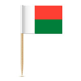 Flag of Madagascar  toothpick on white background Royalty Free Stock Photos