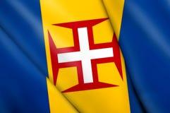 Flag of Madeira (PORTUGAL) Stock Photos