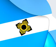 Flag of Madison, USA. Close Up Royalty Free Stock Photos