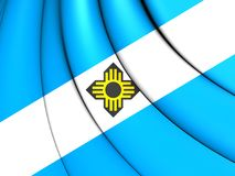Flag of Madison Wisconsin, USA. 3D Flag of Madison Wisconsin, USA. Close Up Royalty Free Stock Photo