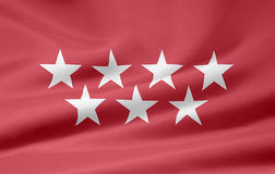 Flag of Madrid - Spain. Very large flag of the spanish province of Madrid Stock Image
