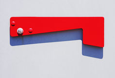 Flag on mailbox Royalty Free Stock Photos