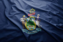 Flag of Maine state Royalty Free Stock Image