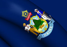 Flag of Maine, USA. Royalty Free Stock Photo