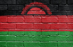Flag of Malawi on brick wall Royalty Free Stock Photos