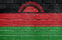 Flag of Malawi on brick wall Royalty Free Stock Photos
