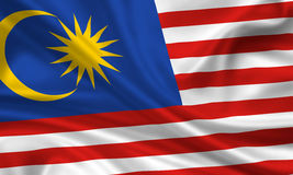 Flag of Malaysia Royalty Free Stock Image