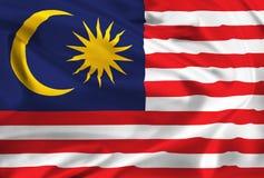 Flag of Malaysia Royalty Free Stock Photos