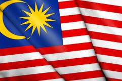 Flag of Malaysia. This is an illustration of folded flag Royalty Free Stock Photography