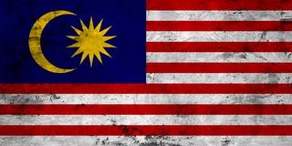 Flag of the Malaysia close up Royalty Free Stock Photography