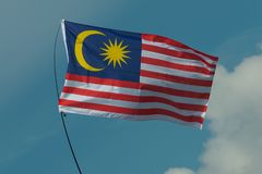 Flag of Malaysia. The Flag of the nation of Malaysia Stock Photography