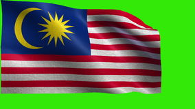 Flag of Malaysia - LOOP Royalty Free Stock Photography