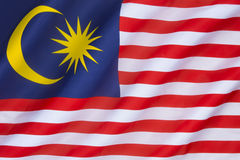 Flag of Malaysia. The national flag of Malaysia, also known as the Jalur Gemilang (Malay for Stripes of Glory). The flag was first raised on 16th September 1963 Stock Photos