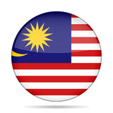 Flag of Malaysia. Shiny round button. Royalty Free Stock Image