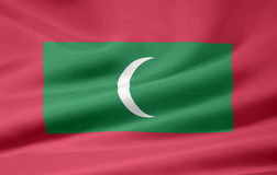 Flag of the Maldives stock image