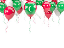 Flag of maldives on balloons Stock Photo