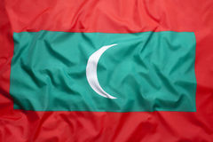 Flag of Maldives Stock Photography