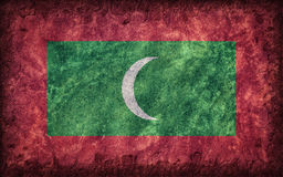 Flag of Maldives. Painted onto a rough wall Royalty Free Stock Photo