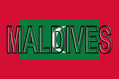 Flag of the Maldives Word. Royalty Free Stock Photo