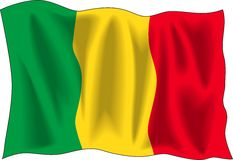 Flag of Mali Stock Photos