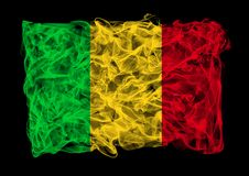 Smoky flag of Mali Royalty Free Stock Photos