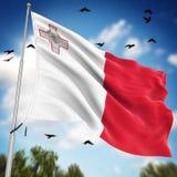 flag malta Стоковые Фотографии RF