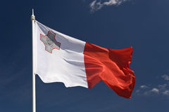 Flag of Malta. The Flag of Mediterranean Island of Malta Stock Images