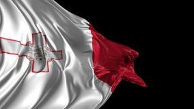 Flag of Malta stock video