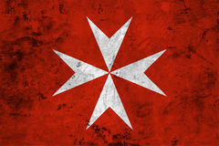 Flag of the Malta close up Stock Images